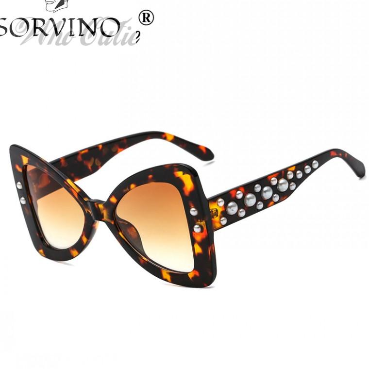 7821891df7d SORVINO 2018 Oversized Triangle Butterfly Sunglasses Women Retro ...