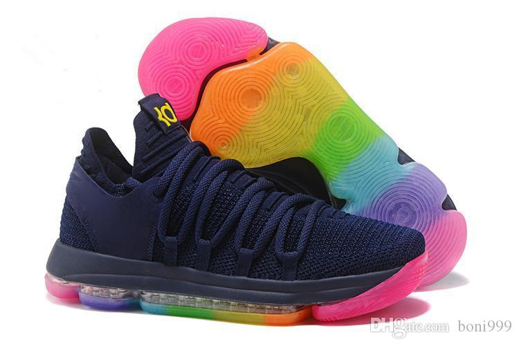Kevin Durant X VII EP KD7 Basketball Shoes Kd 10 X Elite Rainbow Oreo Black  Gold Sneakers Baseball Shoes Basketball Shoes For Men From Boni999 d33d0d034d43
