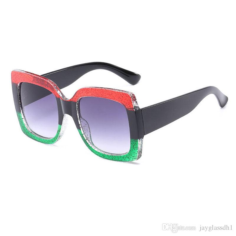 484dd4767 Fashion Trend Brand Design Square Oversized Sunglasses Three Colors Frame  HD Lens Womens Designer Mens Vintage Unisex Accessory Sunglasses Cat Eye ...