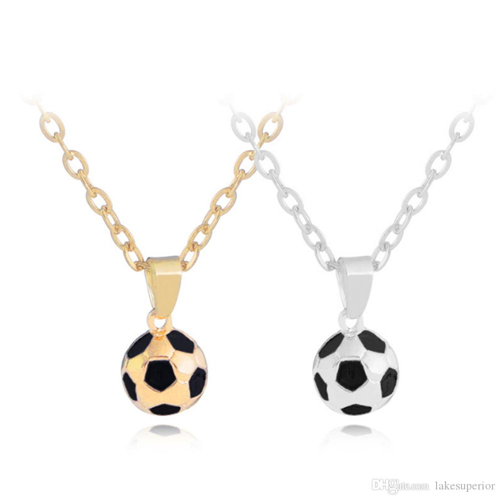 2018 world cup football pendant neckalce for men sport adjustable 2018 world cup football pendant neckalce for men sport adjustable chain necklace gold silver jewelry accessories 2018 world cup pendant necklace football aloadofball Images