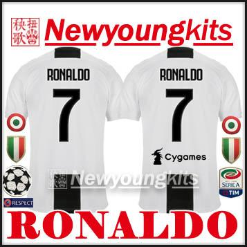 2018 19 RONALDO 7 Soccer Jersey 18 19 JJ Football Shirt Free Patch Ronaldo  Soccer Shirt RONALDO Football Shirt Online with  18.94 Piece on  Newyoungkits s ... 0c615338e