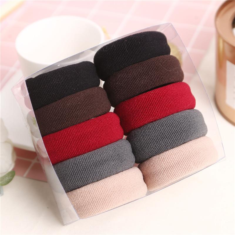 Fashion Women Solid Colors Thick Elastic Rubber Bands Simple Style Pretty  Colors Plain Stretch Hair Ties Hair Bands Womens Hair Bows Babies Hair  Accessories ... 6bce38997ea