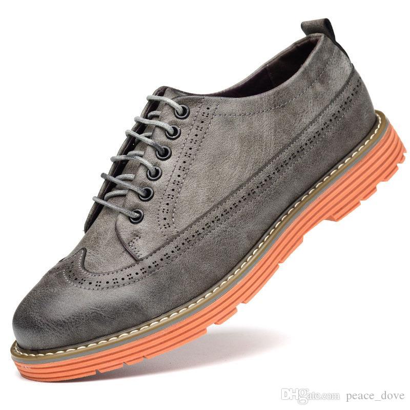 Brogues Men Dress Shoes for Men Italian Men Shoes Mens Shoes Casual Carved  Openwork Platform Heel Erkek Ayakkab Heren Schoenen Ayakkab Men s Dress  Shoes ... 403ebabb390e