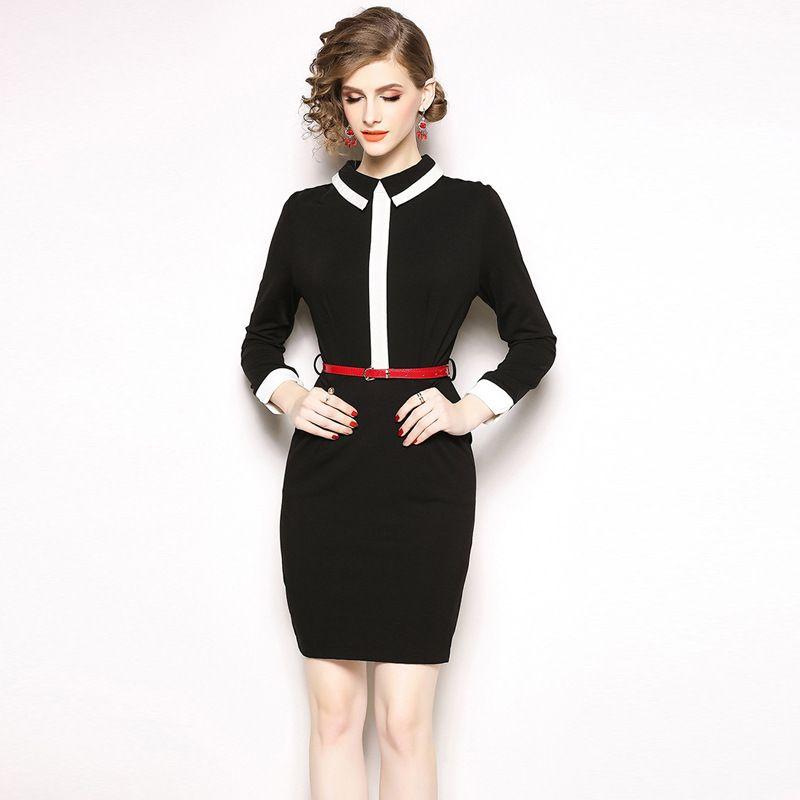 50b6c814c19 Lady OL Bodycon Work Dresses Formal Office Dress High Waist Brief Black Long  Sleeve Career Dress Work Dress Lady Bodycon Dress Long Sleeve Career Dresses  ...