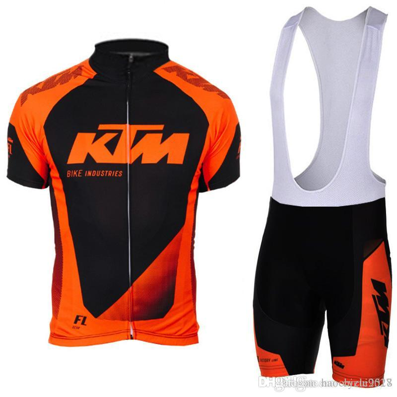KTM 2018 New 100%Polyester Cycling Jersey Quick Dry Bike Bib Shorts ... 0e560c52b
