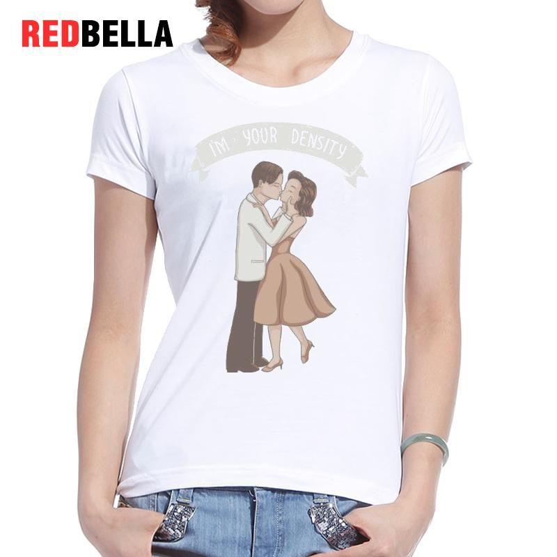 2f1cff9bc4 Women's Tee Redbella Korea Ulzzang Design Style Couple Tee Shirt Vintage  White Cotton Cute Characters Cartoon Fashion Cozy Casual Tshirt Top