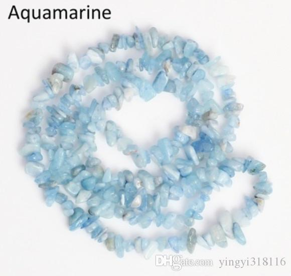 Natural White Turquoise Rose Quartz Stone Beads Irregular Chip Loose Gravel Beads 5-8mm For Jewelry Making Necklace Bracelet