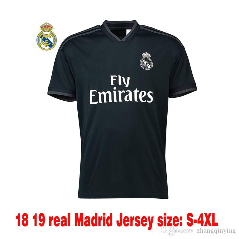d77117e4f1c 18 19 Real Madrid Away Soccer Jerseys Thailand Jerseys 2019 MODRIC BALE  KROOS ISCO BENZEMA Football Shirts Mariano Jerseys Online with  19.67 Piece  on ...
