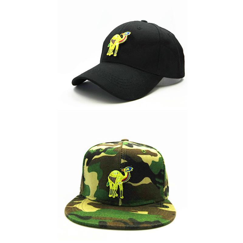 c12a1d38756a2 2018 Camel Embroidery Cotton Baseball Cap Hip-hop Cap Adjustable ...