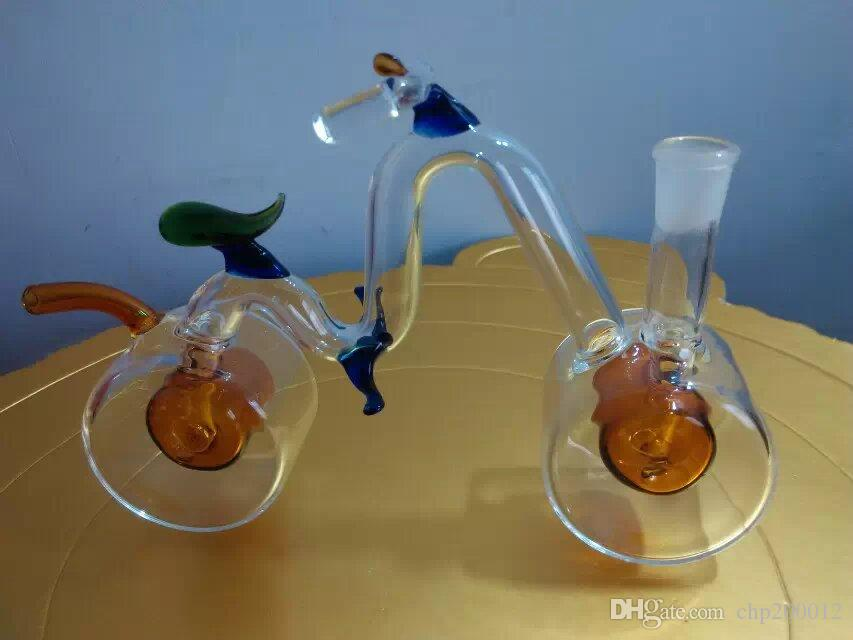 The new color bicycle hookah ,Wholesale Bongs Oil Burner Pipes Water Pipes Glass Pipe Oil Rigs Smoking
