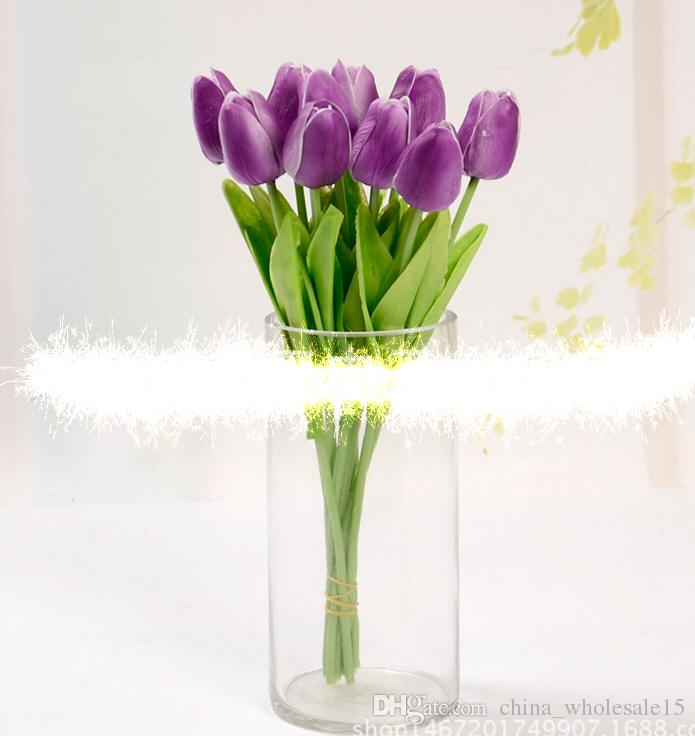 ... Hotel Decorative Fake Flower PU Tulip Real Touch Artificial Flowers  Wedding Home Decoration Online With $6.25/Piece On China_wholesale15u0027s Store  ...