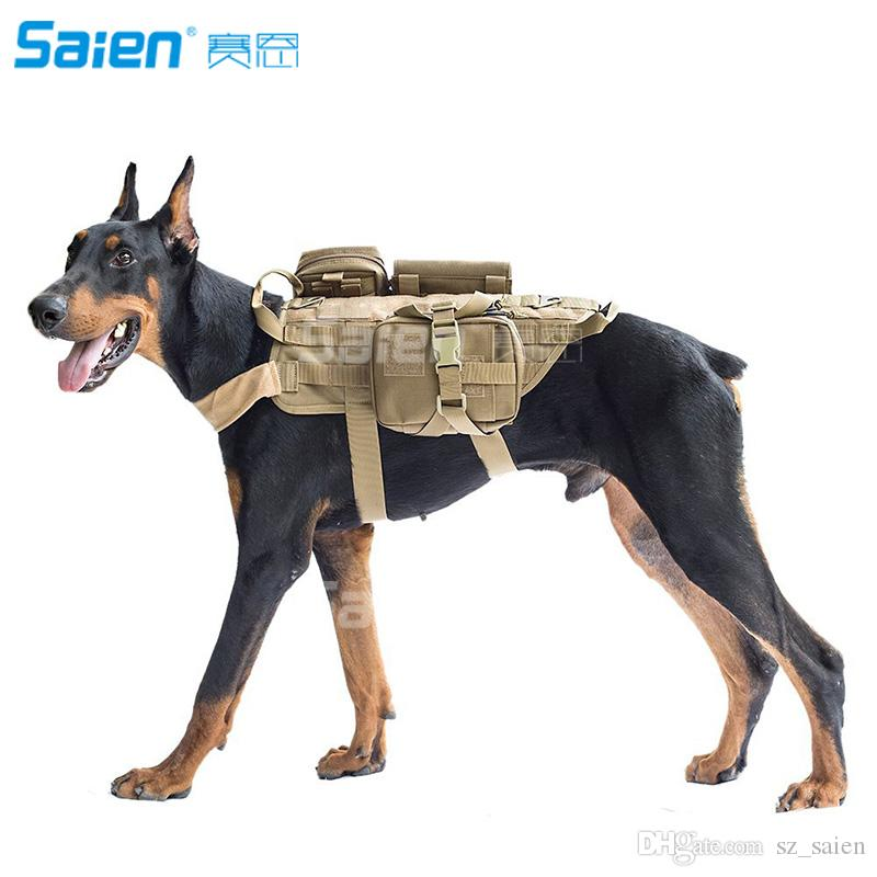 Service Tactical Dog Harness Molle Vest Army Dog Outdoor Hiking