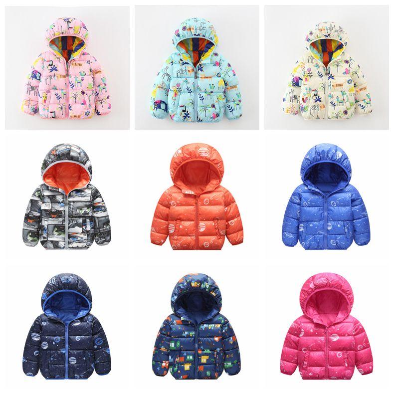 b77fa0fef70b INS Winter Hooded Coat Baby Cotton Padded Down Jacket Long Sleeve ...