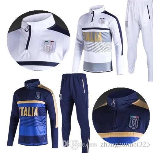 2017 2018 Survetement Football Italy Tracksuit Italia Training Suit ... fbaed8748cf7d