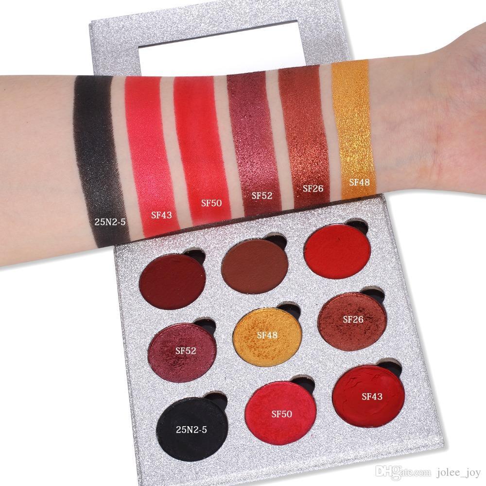 2018 Neueste 9 Farbe Lidschatten-palette Leere Magnetpalette Refill Lidschatten Erröten DIY Schönheit Pigment Make-Up Kosmetische Glitter Palette