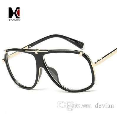 b15504f8d9 SHAUNA Retro Men Square Sunglasses Brand Designer Fashion Women Gradient  Lens Glasses UV400 Sun Glasses Oculos De Sol Driving Goggles Online with ...