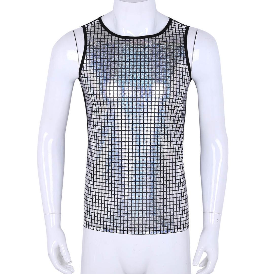 06197679393dee Men shiny super soft running vest mens lightweight elastic tank jpg  1080x1080 Shiny tank tops for