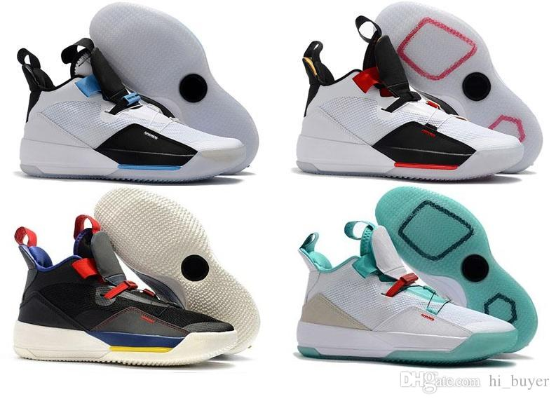 53ef3100de9f 2019 2019 New Jumpman 33 XXXIII Future Of Flight Blackout Retro Man Shoes  33s White Metallic Gold Black Vast Grey Safety Shoes Men Sneakers Shoes  From ...