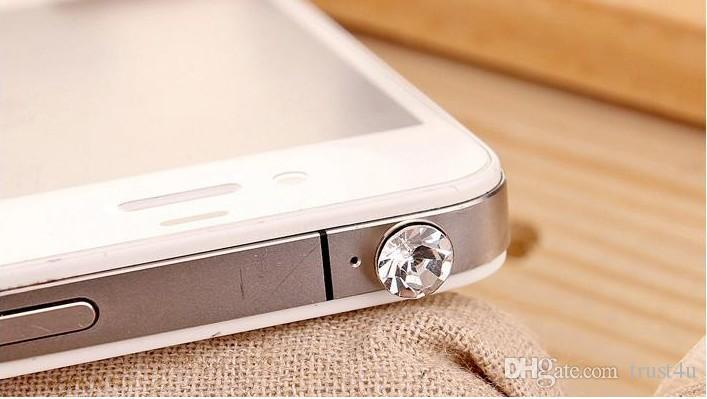 Universal 3.5mm Crystal Diamond Anti Dust Plug Dustproof Earphone Jack for iPhone 3G 4G 4S iPad Samsung Cellphone Smartphone