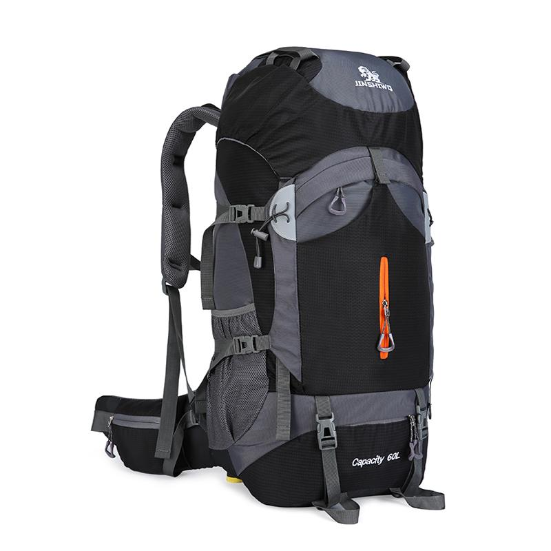 42f65255cac4 60L Large Capacity Camping Hiking Backpacks Lightweight Outdoor Sport Bag  Waterproof Backpack Man Travel Back Pack Alloy Support Leather Backpacks  One Strap ...