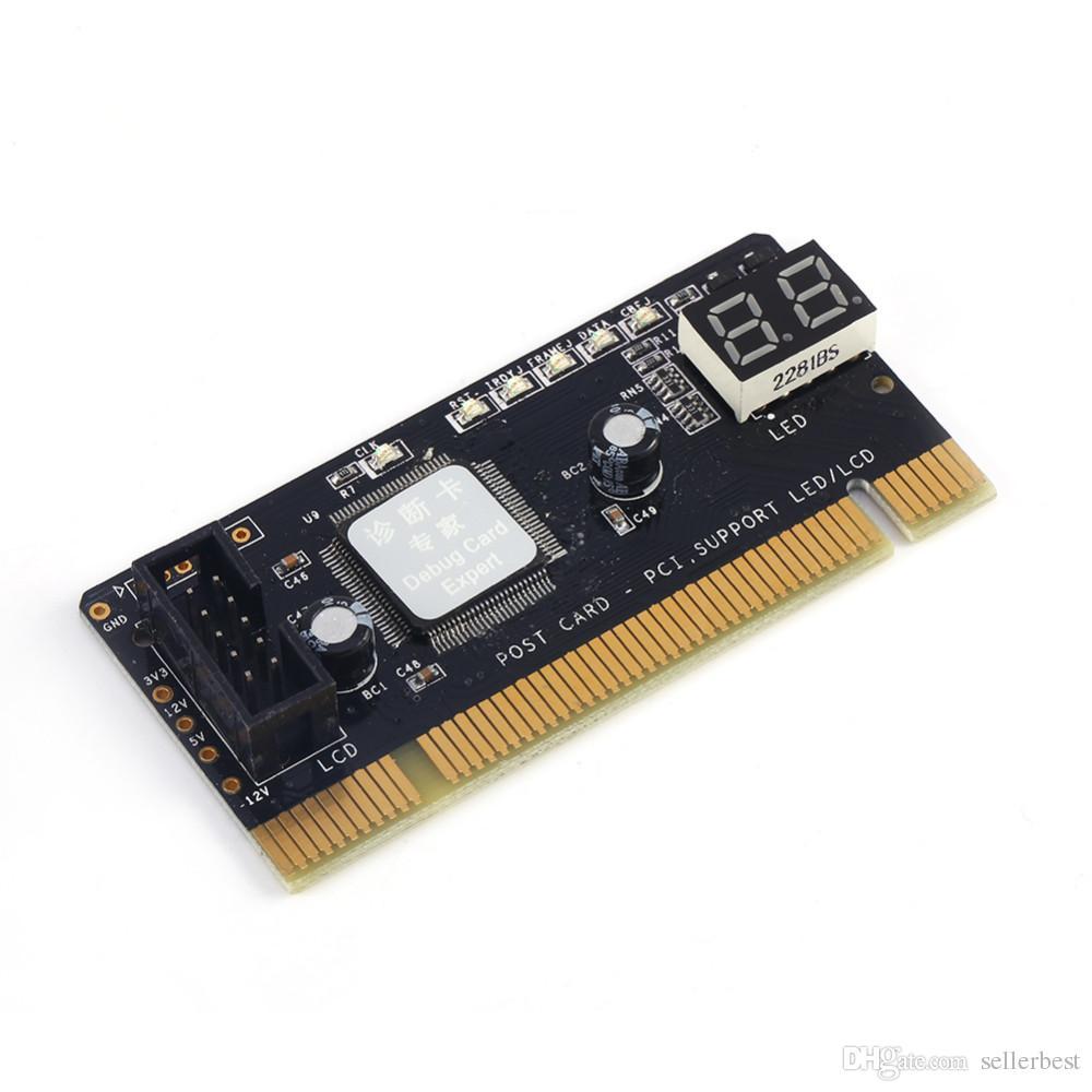 Carte postale PCI-E PC Test de diagnostic PCI Testeur Testeur de carte de débogage hôte pour ordinateur de bureau
