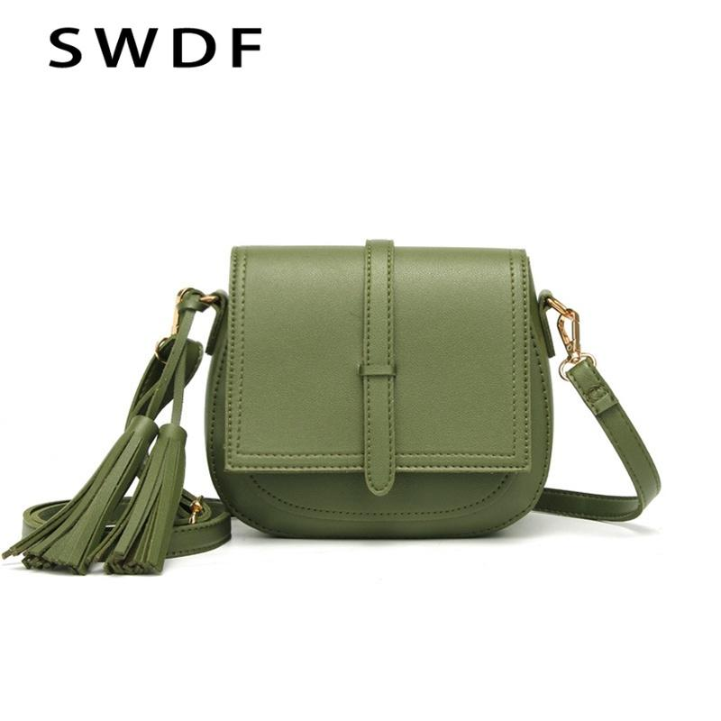 SWDF Fashion Women s Shoulder Bag PU Soft Leather Pure Color Crossbody Bag  Flap Shell Korean Trend Fringe Messenger Ladies Shoulder Bags Cheap  Shoulder Bags ... e63d86a0b09be
