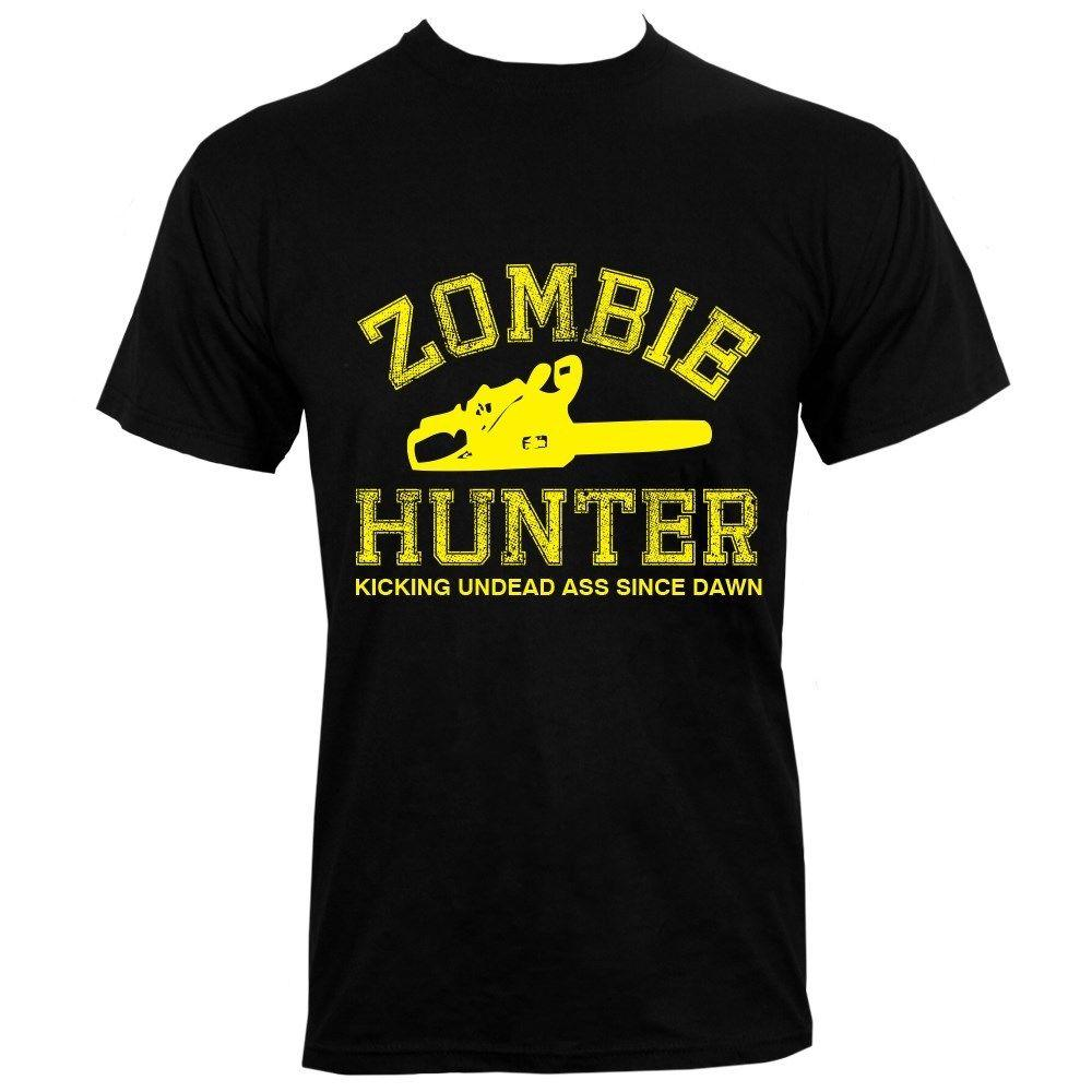 Zombie Hunter Men's Black T-shirt Funny Clothing Casual Short Sleeve T Shirt Summer 2018 100% Cotton