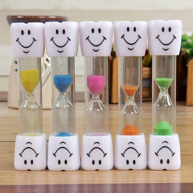 Children ToothBrush Timer Smilely Sand Timer Hourglass Decorative Ornaments Teeth Smiling Face Timers Kids Creative Sand Timer Gifts YFA241