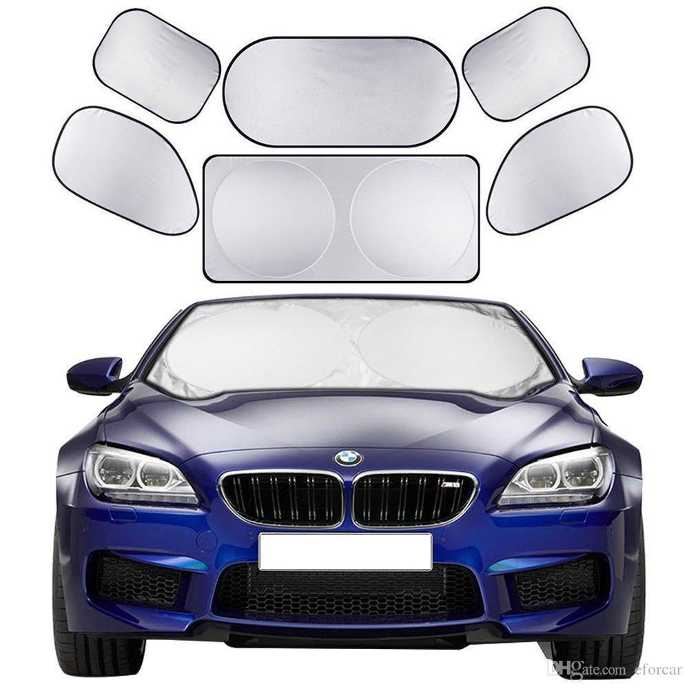 Car Sun Shade Screen Full Car Front Side Rear Window Sunshade Curtain Windshield Shades Visor Cover Sun Block