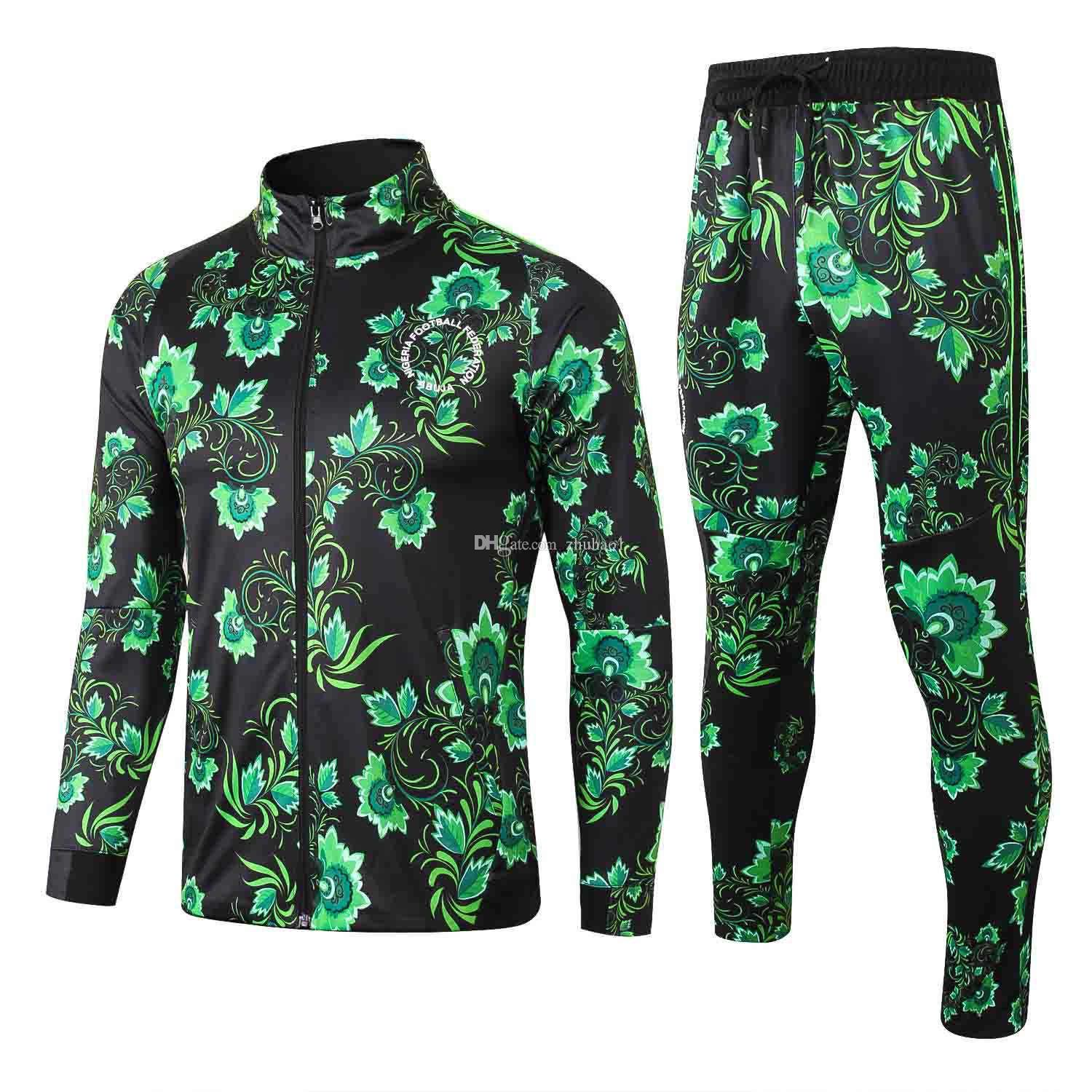 d292e679f 2019 1819 Nigerian African Eagle Football Jersey 2018 Victor Moses Men S  Football Long Sleeve Jacket Set From Zhuhao1