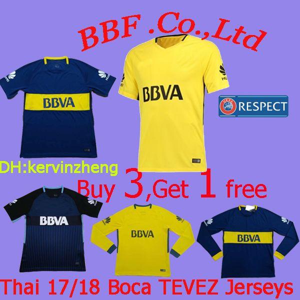 Tailandia 2017 2018 Jerseys De Boca De Boca Juniors Olives Jersey CARLITOS  ROMAN TEVEZ Jersey Kit Personalizar Jersey De Fútbol 18 19 Camisetas De  Fútbol ... 131bbbbda1879