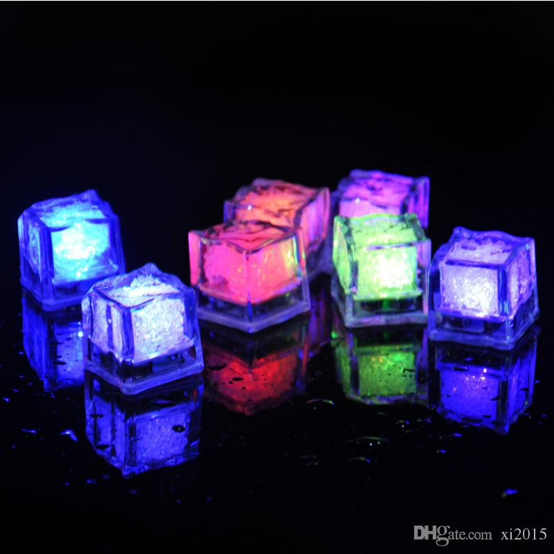 High Quality Flash Ice Cube Water-Activated Flash Led Light Put Into Water Drink Flash Automatically for Party Wedding Bars Christmas wen544