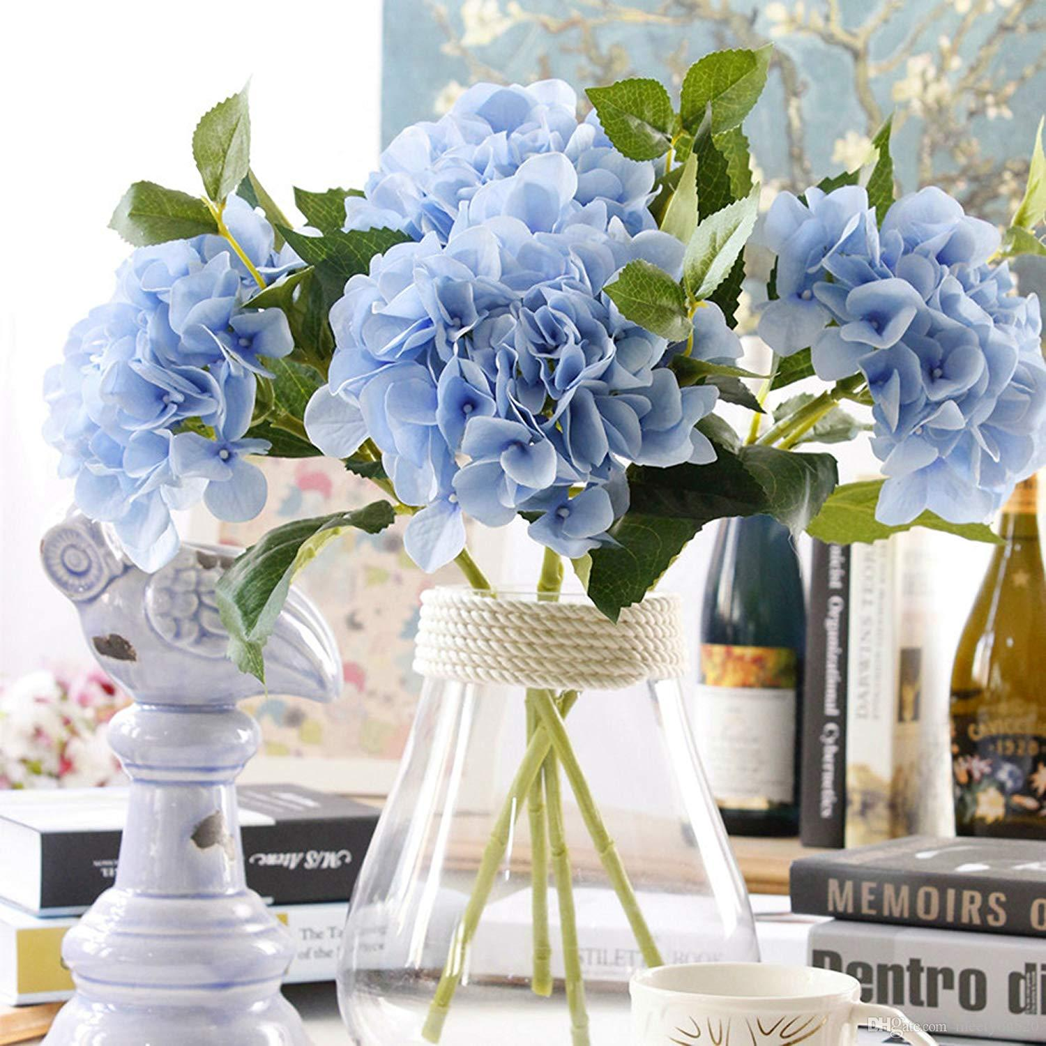 2018 Artificial Flowers For Outside Hydrangea Fake Flower With 3 Big