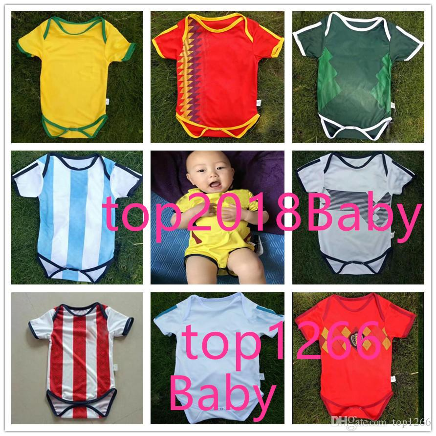 Online Cheap 2018 World Cup Spain 6 18 Month Home Baby Soccer Jersey