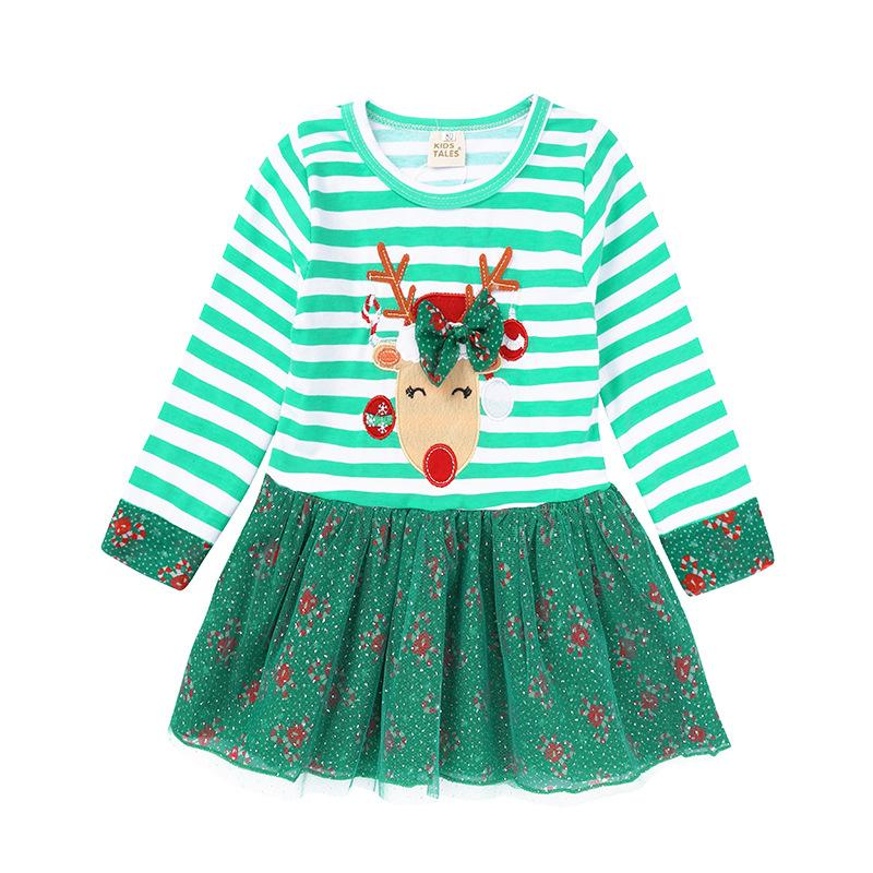 e0b5773d2dd 2019 New Year Lovely Winter Long Sleeves Baby Dresses For Chrismas Party  Girls Deer Pattern Performance Wear Infant Baby Girl Dress From Coolhi