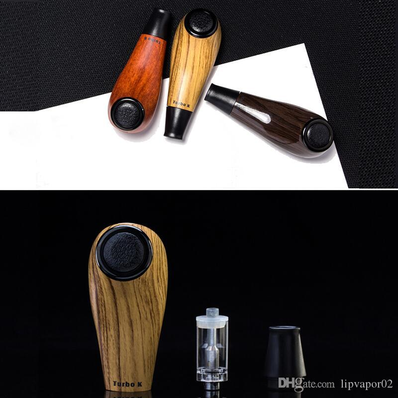 Original Kamry Turbo K Wooden E Cig Pipe Mod Vapor Starter Kit 0.5ohm 1000mAh Variable Voltage Long Stem Epipe DHL Free