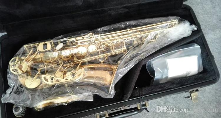 Brand New YANAGISAWA Altsaxophon WO20 Goldlack Sax Professionelle Mundstück Patches Pads Reeds Bend-Neck