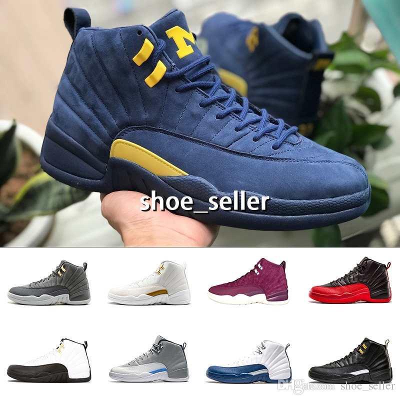 f23a9a196ae2a3 2018 Michigan Men Basketball Shoes 12 Pink Lemonade Bordeaux Dark ...