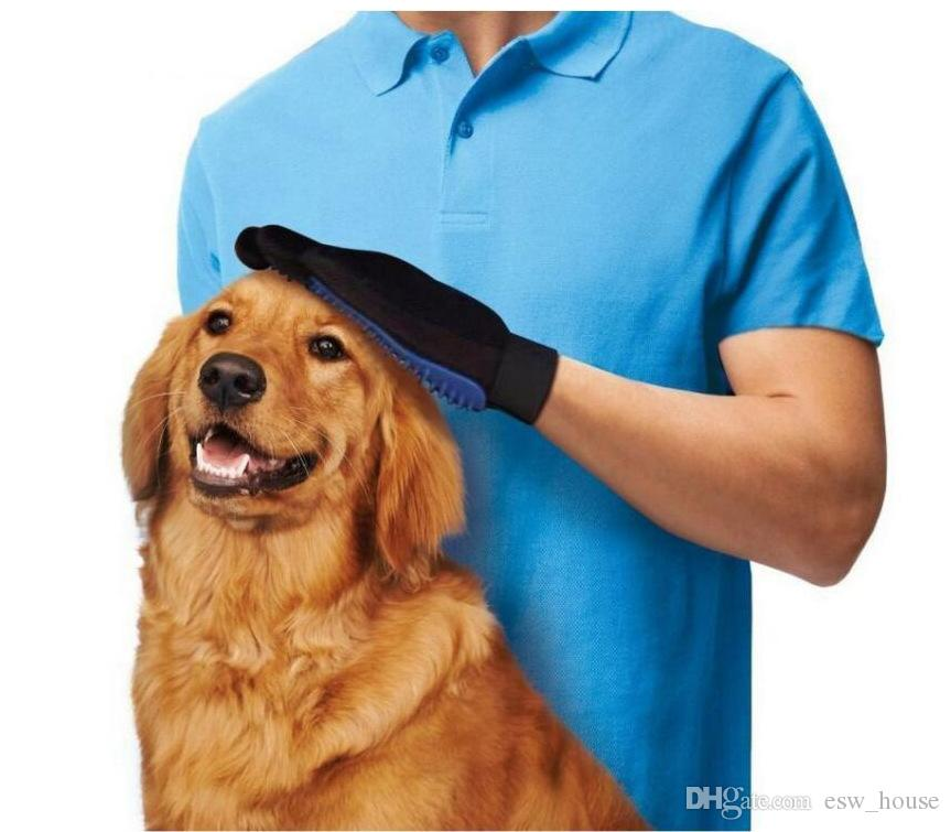 Haustier Hund Katze Pflege Reinigung Magie Handschuh Schmutzentferner Pinsel Deshedding Handschuhe Pet Reinigungsbürste Komfort-tool