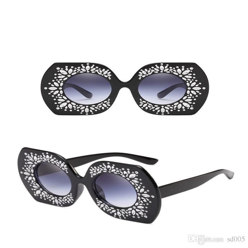 Großhandel Punkt Farbe Spiegel Rahmen Designer Sonnenbrille Großen ...