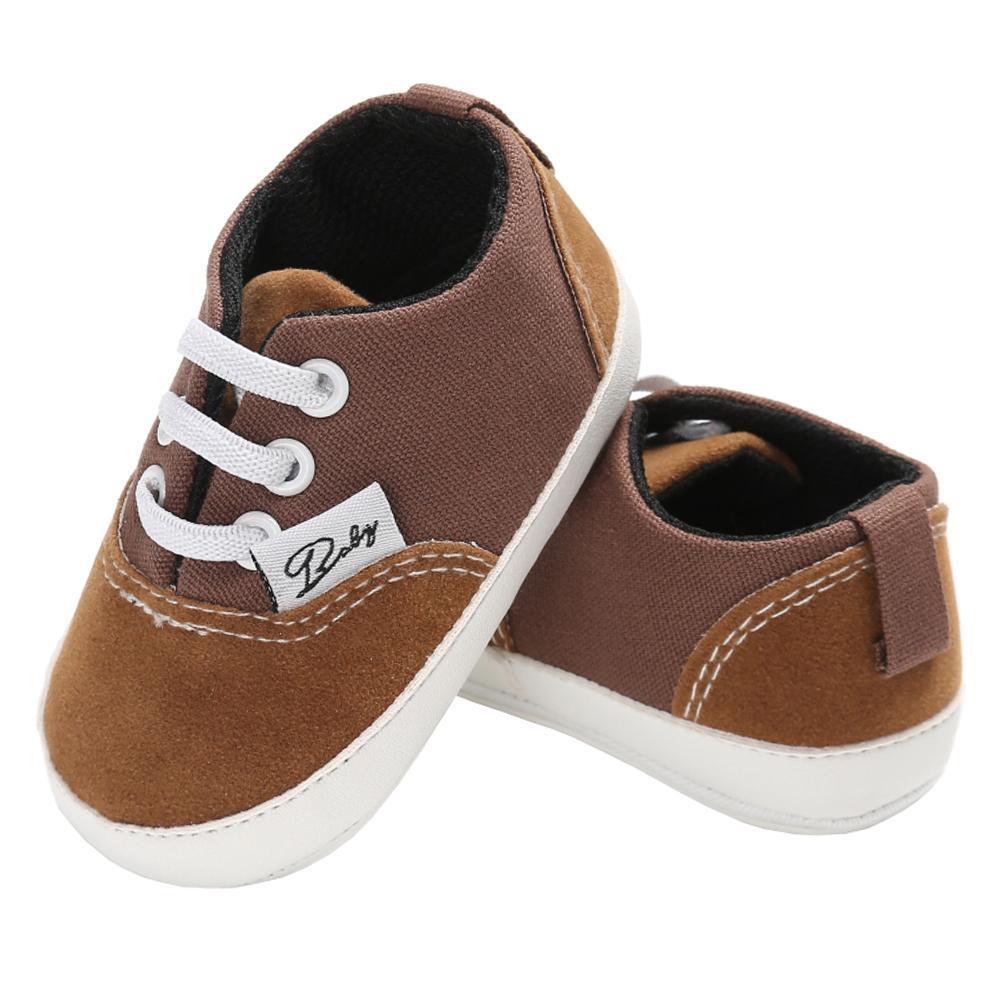 accb6dc1a Compre Sapatos Casuais Para O Bebê Boy Canvers Tênis Pequeno Bebê Recém  Nascido Sapato Cristão Tenis Infantil Mocassins Da Criança Sola De Borracha  Calçado ...