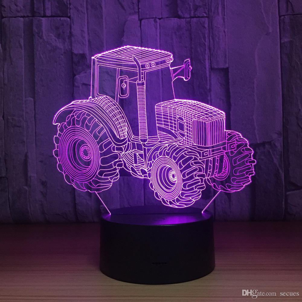 La CC 5V di notte della luce notturna della lampada di illusione ottica dell'automobile 3D del camion carica la quinta batteria Dropshipping all'ingrosso Trasporto libero