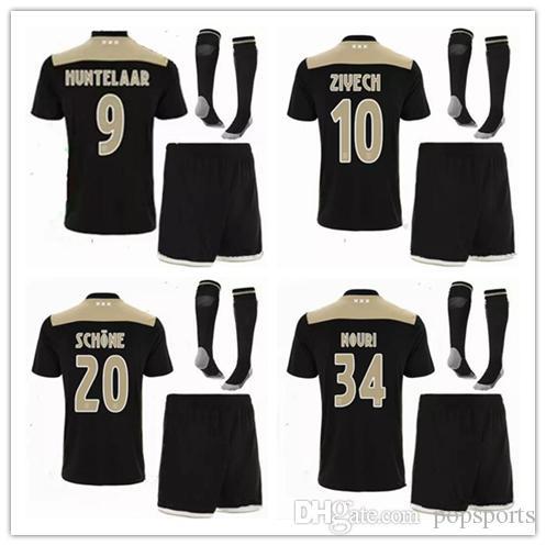 6dc9d2883 2019 Ajax FC Away Kit With Socks Shirts 2018 19 Soccer Jersey Mens Football  Short Sleeve T Shirt KLAASSEN DOLBERG MELIK DIJKS EL GHAZI YOUNES From  Popsports ...