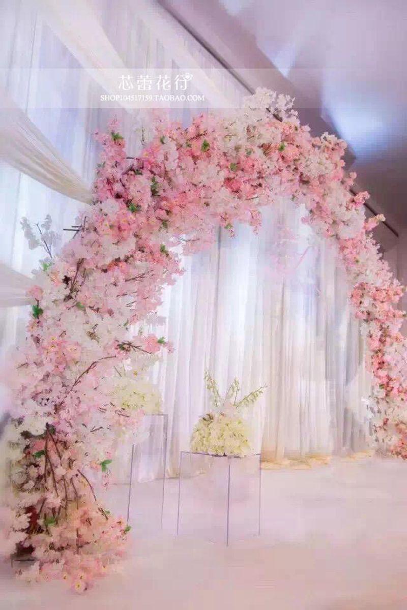 Wedding Cherry Blossoms Elegant Artificial Silk Flower Wisteria Vine ...