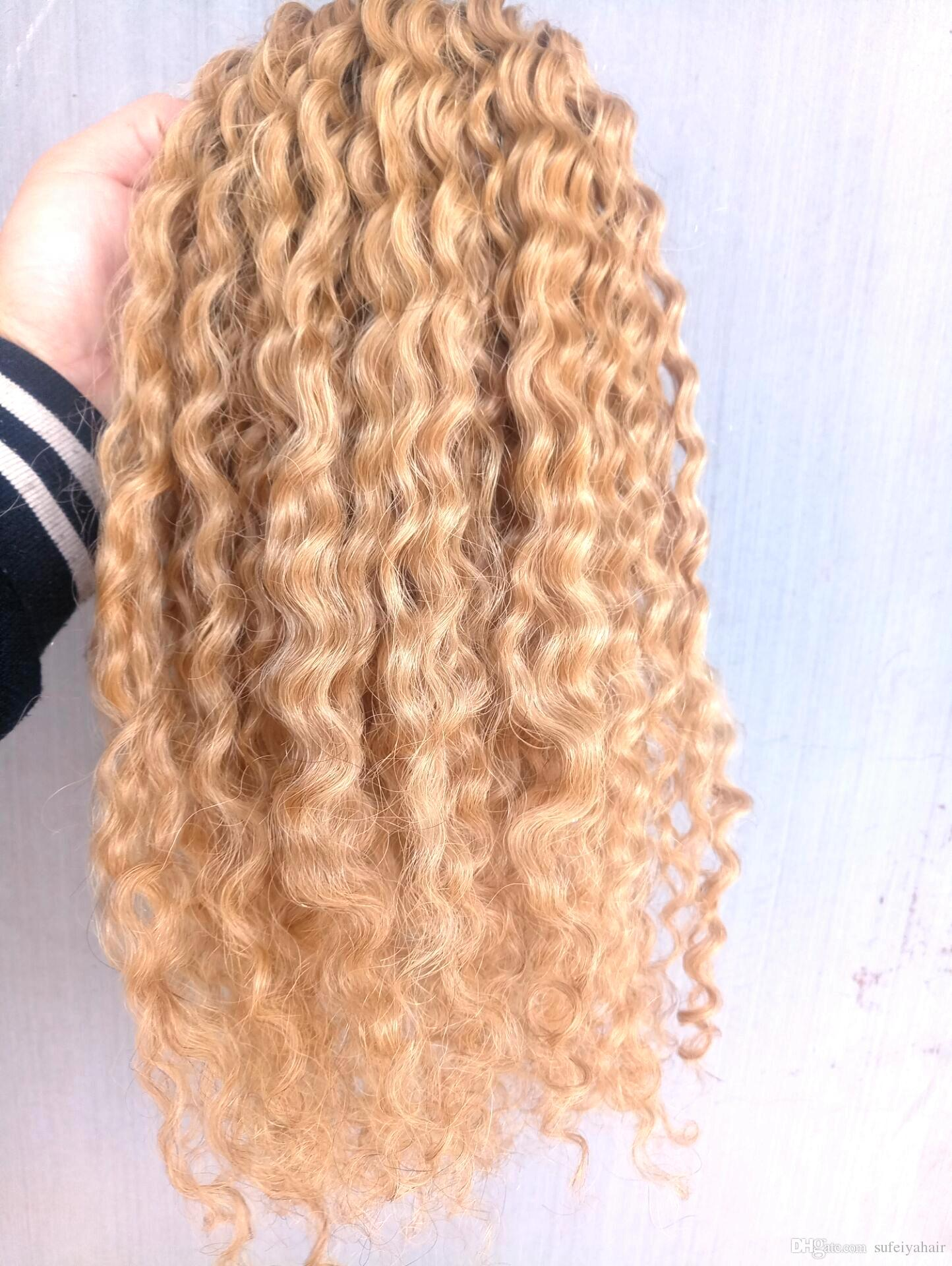 New Arrive Brazilian Human Virgin Remy Curly Hair Extensions Dark