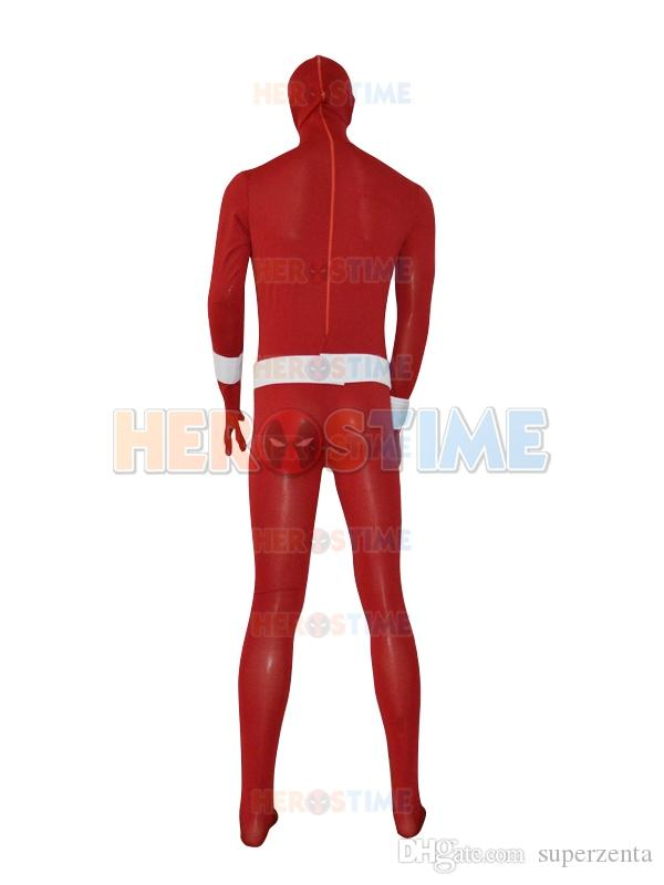 Custom Made Scarlet Spiderman Costume Red Spider-man Superhero Costume With Belt Cool Cosplay Comic Costume for male/female/kids