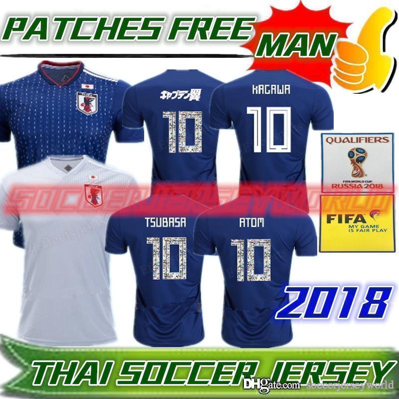b606fcc81092 JAPAN 2018 TSUBASA Soccer Jerseys Japan World Cup Home ATOM 18 19 ...