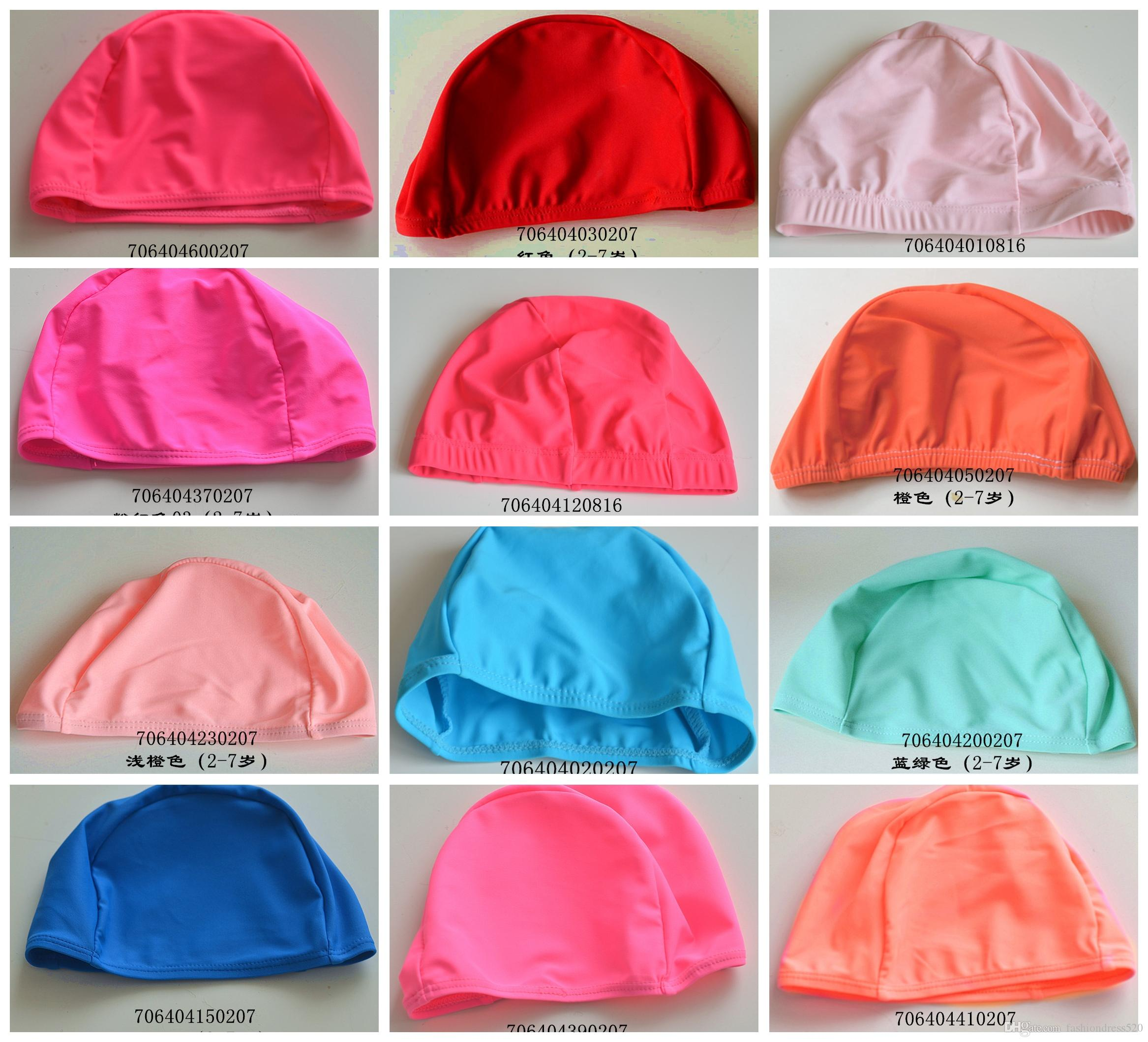 Maxmessy Random Color Swimming Caps Free Size Bathing Cap Protect Ears Hair  Men Women Adults Swim Pool Cap Hat DHL UK 2019 From Fashiondress520 9ee62d942dd0