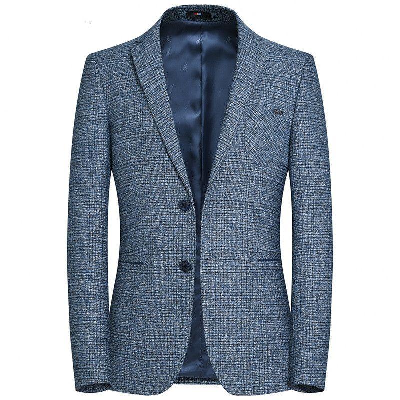 Compre 2018 Nuevos Hombres De Moda Boutique Cuadros De Negocios Formales  Blazers Trajes Chaquetas Hombre Slim Fit Traje Casual Capas De Lujo  Chaquetas ... 9e5ff8c11101