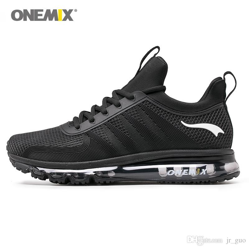 5f691a634c897 ONEMIX Hombres Zapatillas De Running Para Mujeres Air Sole Designer Athletic  Tenis Zapato Deportivo Negro Cojín Tendencias Al Aire Libre Senderismo ...